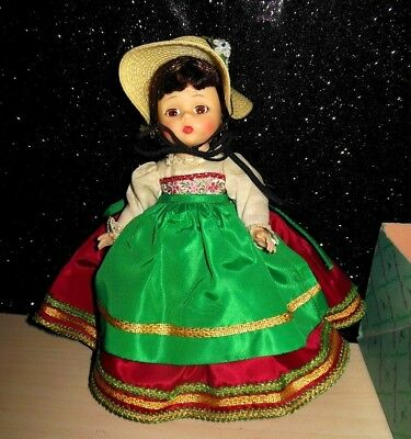 """MADAME ALEXANDER ITALIAN 793 DOLL 1960s COMPLETE WITH BOX BENT KNEE LOVELY 7.5"""""""