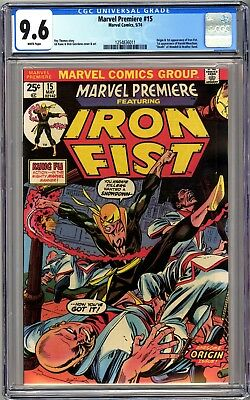 MARVEL PREMIERE #15 - CGC 9.6 WHITE Pages NM+ First IRON FIST