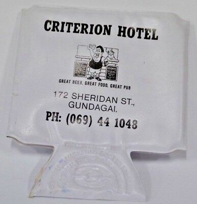 Criterion Hotel Gundagai NSW Folds Flat Drink Wallet Can Cooler Stubby Holder