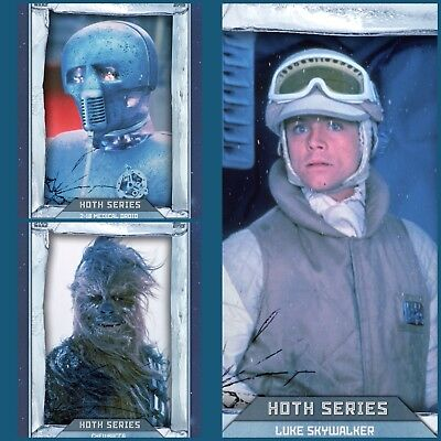 Star Wars Card Trader ANIMATED ARCTIC Hoth Series (COMPLETE Set + AWARD)