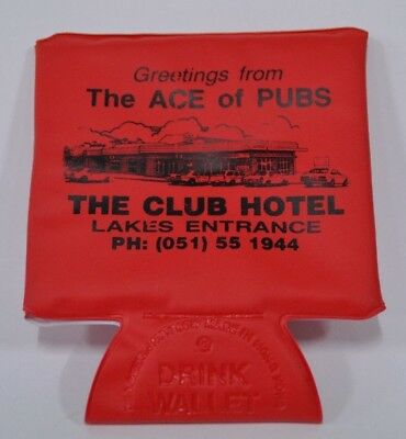 The Club Hotel Lakes Entrance Victoria Drink Wallet Can Cooler Stubby Holder