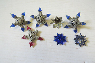 LOT OF 4 VINTAGE 20's X-MAS STAR+ GEM   LIGHT BULBS  - WORKING?