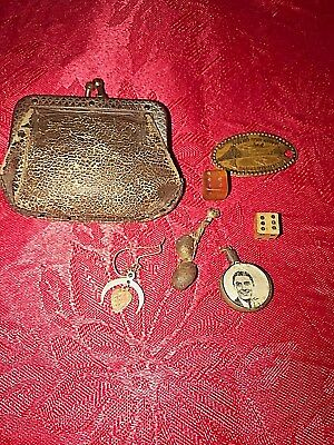 Little Antique Change Purse with tiny Treasures