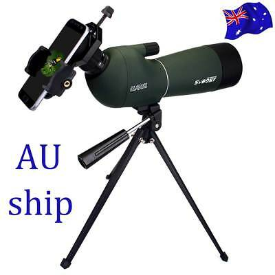 SV28 20-60x60mm Zoom Spotting Scopes Waterproof+Tripod+Cell Phone Mount Adapter