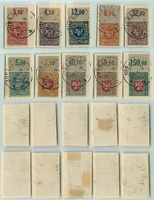 Lithuania 1919 SC 30-39 used cover cut . d6947