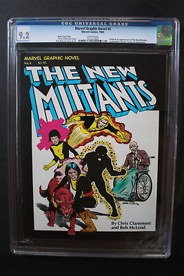 MARVEL GRAPHIC NOVEL #4 MOVIE 1st Print NEW MUTANTS 1982 Canada VARIANT CGC 9.2