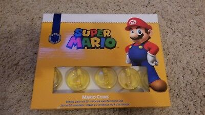 Super Mario String Light of 10 Coins - Authentic Nintendo Ornament - New in Box