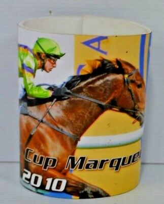2010 Caulfield Cup Marquee Folds Flat Adjustable Can Cooler Stubby Holder