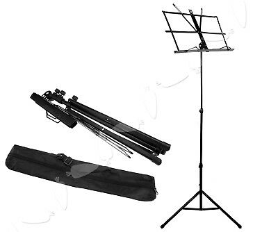 New Foldable Metal Adjustable Sheet Music Stand With Carry Bag