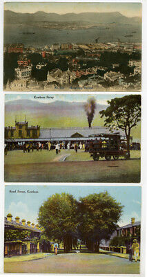 Three Vintage Early 20th Century Unused Hong Kong Postcards