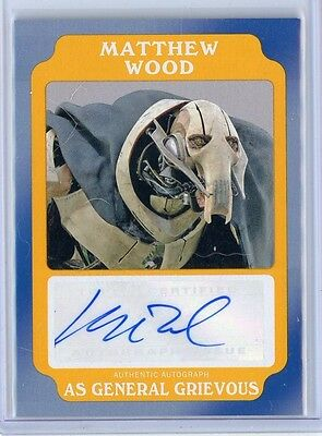 2016 Star Wars Rogue One Mission Briefing MATTHEW WOOD as GRIEVOUS Auto #10/10