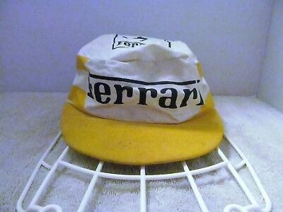 Vintage Ferrari Painters Side Stripe Hat, Made in USA, GUC