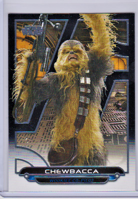 2018 Topps Star Wars Galactic Files Sp Short Print Image Variation Chewbacca