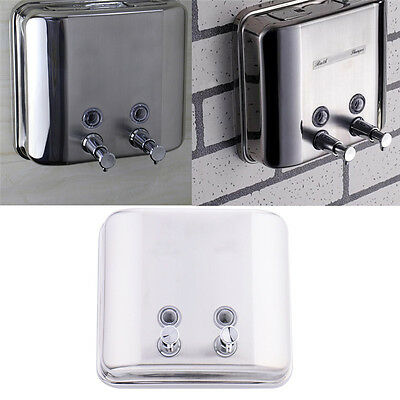 1500ml Wall Mounted Bathroom Stainless Soap Dispenser Liquid Soap Shampoo Box