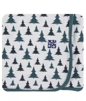 Kickee Pants Natural Christmas Trees TODDLER Blanket - 2017 Exclusive Collection