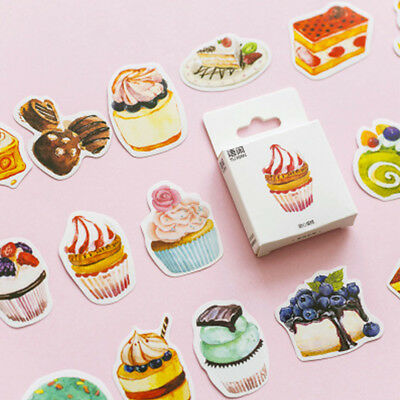 50Pcs Mixed Cake Design Stickers Hand Account Decoration Sealing DIY Stickers
