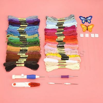 Household Embroidery Tool Cross Stitch Threads Threaders Pen Punch Needles Set
