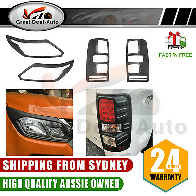 Abs Head Light Lamp Front Cover Trim Fits Ford Ranger Px2 2015-2018