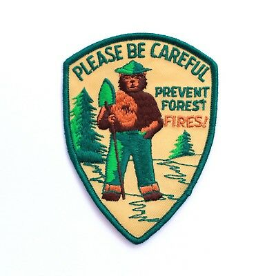 Official Smokey Bear Souvenir Patch Prevent Forest Fires US Forest Service Smoky