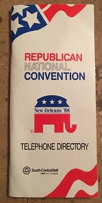 1988 Republican National Convention G. Bush New Orleans '88 Telephone Directory