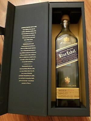 Johnnie Walker Blue Label whiskey Empty Glass Bottle with Gift Box Case 750ml