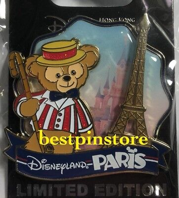 Hong Kong Disney pin HKDL Disney Parks Passport Series - Duffy Paris LE Pin RARE