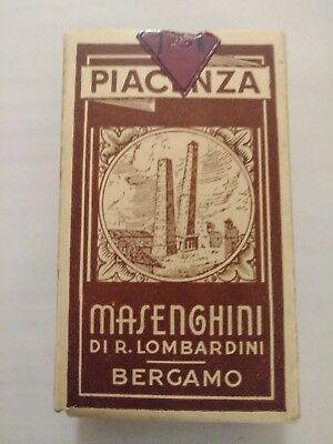 Vintage 1943 Masenghini Piacenza #21 Italian Playing Cards Perfect Condition