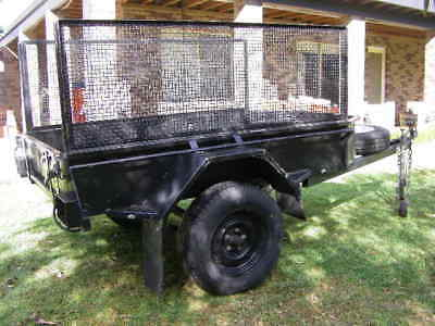 Box Trailer Heavy Duty 7 X 4 With Removable Mesh Sides