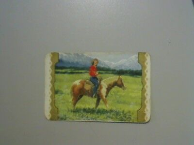 1 Swap/Playing Card - Coles Unnamed Series Horse Horizontal