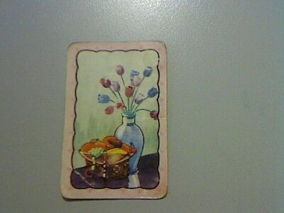 1 Swap/Playing Card - Coles Unnamed Series Flowers and Fruit Bowl