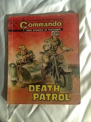 Commando War Story Picture Book / Comic DEATH PATROL No.1191 C/P 9p 1978