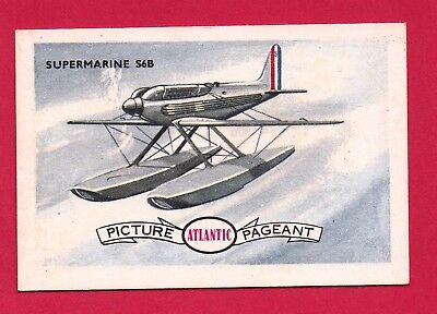 "1958 Atlantic Petrol  ""Conquest of the Air"" Swap Card: SUPERMARINE S6B  .... #16"