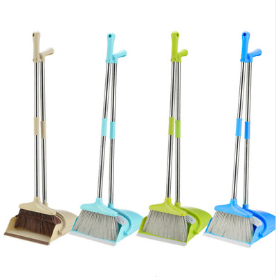 Eco Long Handle Handled Dustpan & Brush Set Sweeper Cleaner - Dust Pan And Brush
