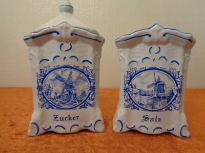 2 x Porzellan Vorratsdose / Dose - Windmühle - Royal Design Porcelain