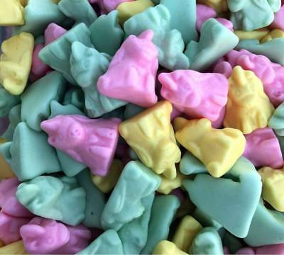 Unicorns face shaped Fruity Flavou Gluten free Gummy Candy 600g