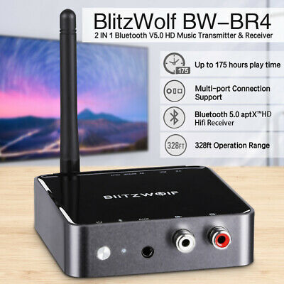 BlitzWolf 2 In 1 aptX HD bluetooth V5.0 Music Receiver Transmitter Audio Adapter