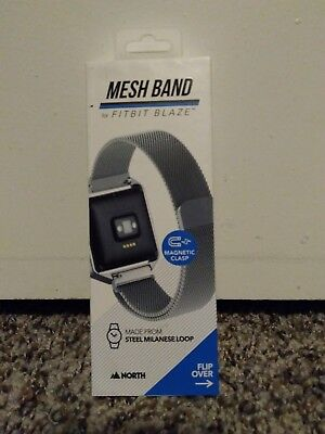 North New Mesh Band Fitbit Blaze Steel Milanese Loop Adjustable Magnetic Clasp