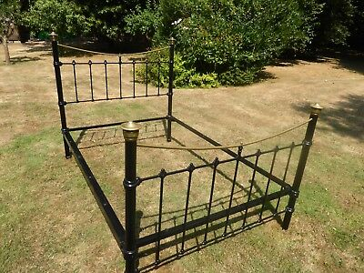 Early 1900's Iron and Brass Double Bed