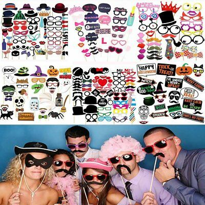 All Fun Photo Booth Props Wedding Birthday Christmas Halloween Party Card Masks