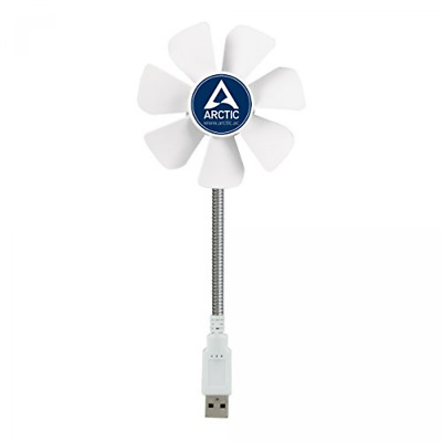 ARCTIC Breeze Mobile - Mini USB Desktop Fan with Flexible Neck I Portable Desk