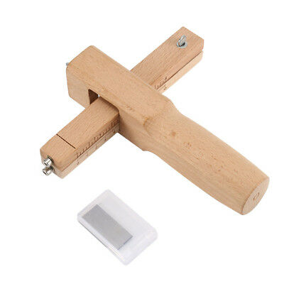 Leather Cutter Craft Tool Hand Cutting DIY Tools Wood Adjustable Strip & Strap