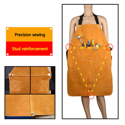 60cm*90cm Welding Apron Welder Heat Insulation Cow Leather Protection Equipments