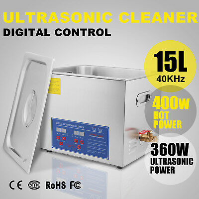 15L Nettoyeur à Ultrasons Drainage System Glasses Cleaning LED Display