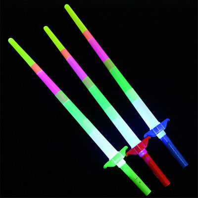 Retractable LED Light Flashing Glow Sticks Wands Toys Party Wedding Decor Sale