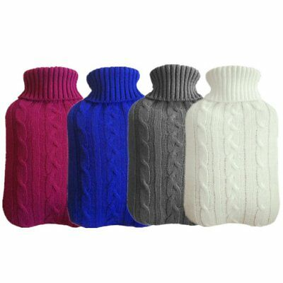 Knitted Cover Case For 2L Rubber Hot Water Bottle Bag Winter Home Office UU