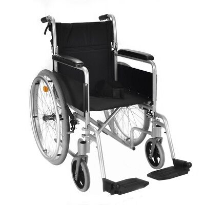 Lightweight folding self propel wheelchair 8.5kg with lapbelt handbrakes ECSP04