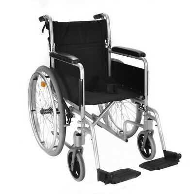 Lightweight folding self propel wheelchair with lapbelt and hand brakes ECSP04