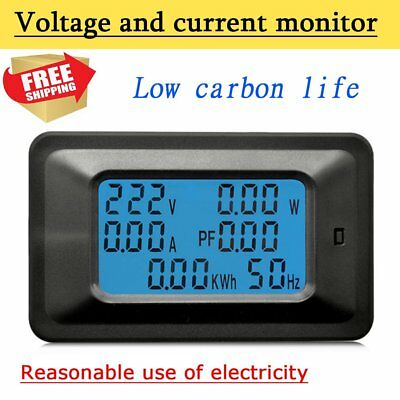 100A AC LCD Digital Panel Power Watt Meter Monitor Voltage Voltmeter Ammeter TQ