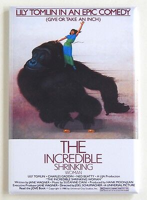 Incredible Shrinking Woman FRIDGE MAGNET (2 x 3 inches) movie poster lily tomlin