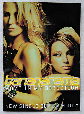 Bananarama 'Move in my direction' promo postcard mint condition